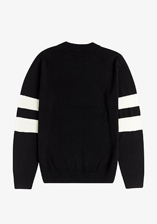 Tipped Sleeve Crew Neck Jumper