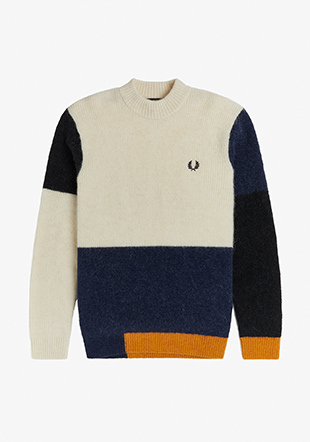 Colour Block Aplaca Jumper