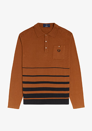 Striped Hem Knitted Shirt