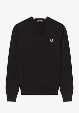 Classic Cotton V Neck Jumper