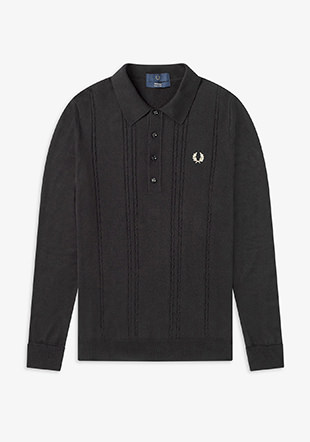 Reissues L/S Cable Knitted Shirt