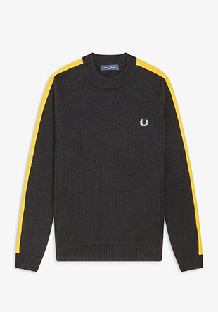 Broken Tipped Overarm Crew Neck Jumper