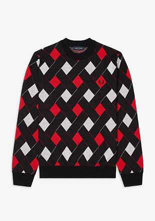 Jacquard Crew Neck Jumper