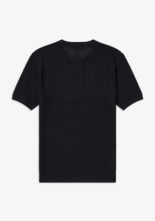 Reissues Texture Knit Button Neck