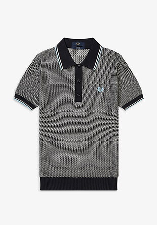 Reissues Two Colour Texture Knit Shirt