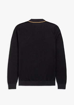 Tipped Lslv Knitted Shirt