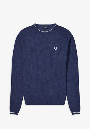Reissues Tipped Open Knit Sweatshirt