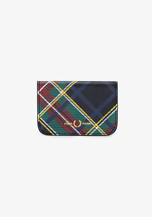 Tartan Txture Leather Foldover