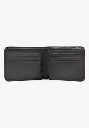 Graphic Leather Billfold Wallet
