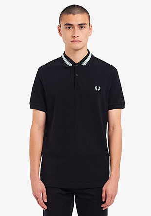 Tramline Tipped Polo Shirt