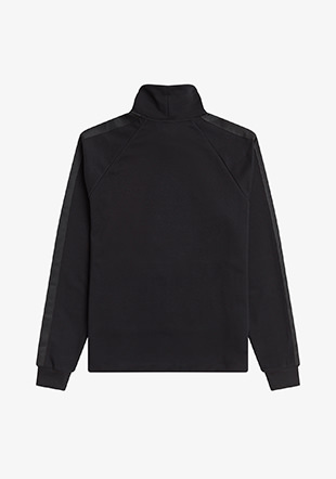 Tonal Tape Funnel Neck Top