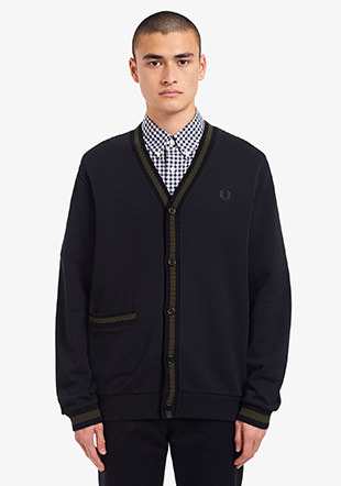 Tipped Loopback Cardigan