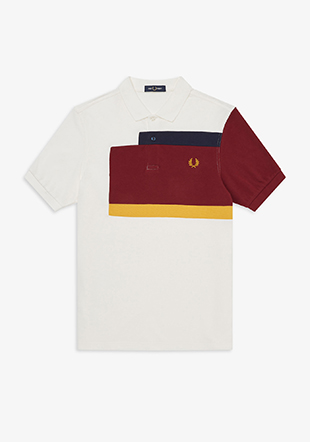 Abstract Panel Polo Shirt