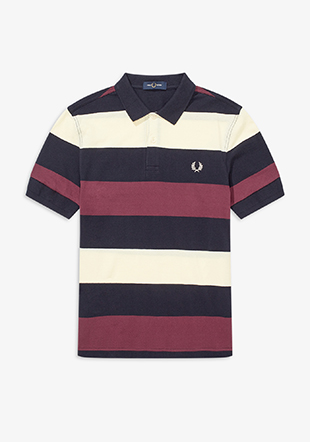 Texture Stripe Polo Shirt