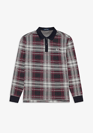 Jaquard Check Polo Shirt