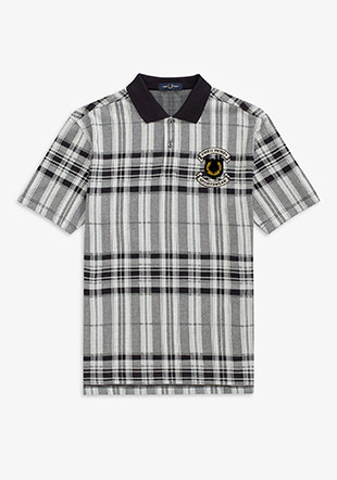Embroidered Check Polo Shirt