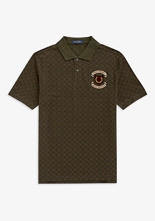 Embroidered Printed Polo Shirt