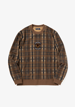 Shield Checked Sweatshirt