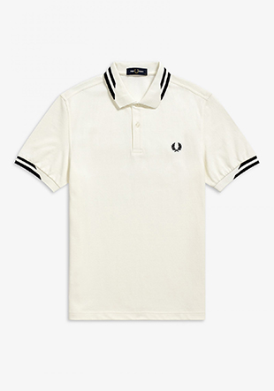 Diagonal Tipped Polo Shirt