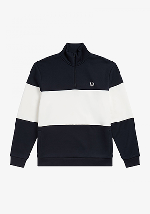 Colourblock Hlf Zip Sweatshirt
