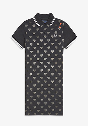 Amy Winehouse Heart Print Pique Dress