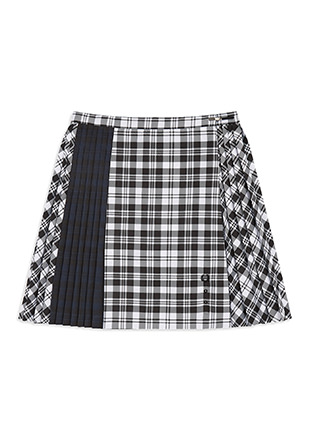 Le Kilt Mixed Tartan Tennis Skirt