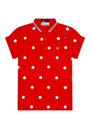 Amy Winehouse Polka Dot Pique Shirt