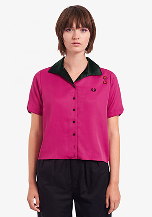 Amy Winehouse Embroidered Lyric Bowling Shirt
