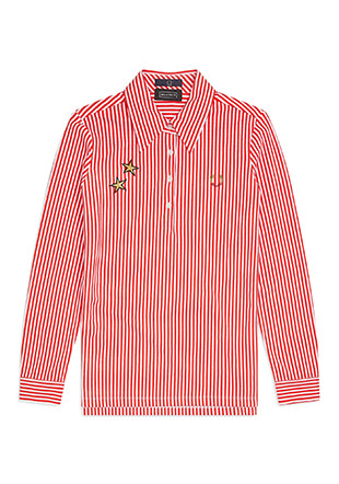 Bella Freud L / S Vertical Stripe Pique Shirt