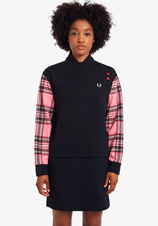 Amy Winehouse Tartan Sleeve Sweatshirt