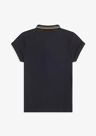 Amy Winehouse Metallic Trim Polo Shirt