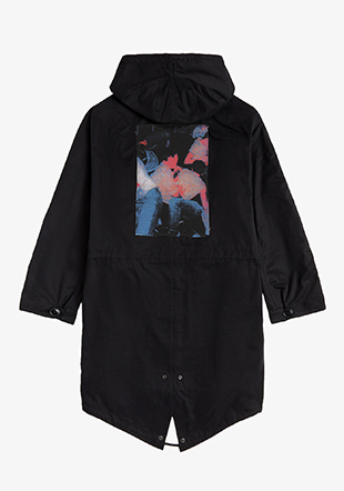 Raf Simons Printed Patch Shell Parka