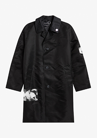 Raf Simons Printed Patch Overcoat