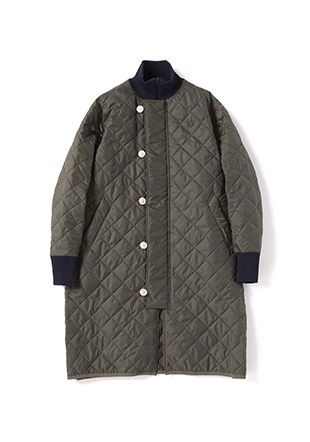 Lavenham Quilted Funnel Neck Coat