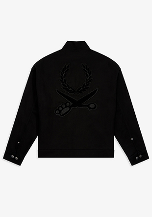 Art Comes First Shield Patch Harrington Jacket