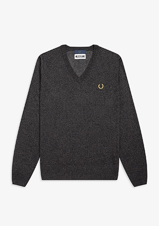Miles Kane Metallic V Neck Jumper