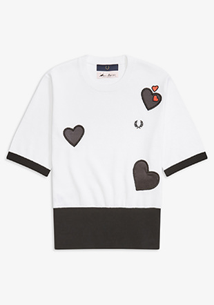 Amy Winehouse Contrast Heart Jumper