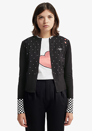 Amy Winehouse Polka dot Cardigan