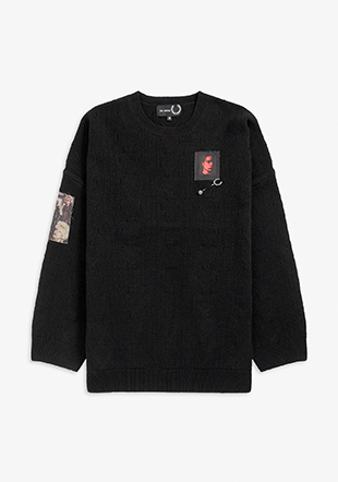 Raf Simons Oversized Printed Patch Jumper