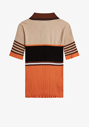 Akane Utsunomiya Stripe Knit Polo Shirt