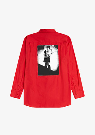 Raf Simons Oversized Patched Ls Shirt