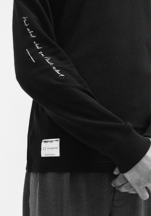 Goodhood Printed Long Sleeve Polo Shirt