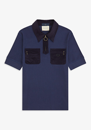 Nicholas Daley Corduroy Pocket Pique Shirt