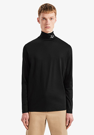 Raf Simons L/S Roll Neck Top