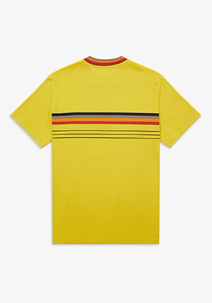 Art Comes First Collarless Striped Polo Shirt