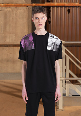 Raf Simons Skate Fit Shoulder Print T-Shirt