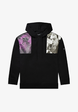 Raf Simons Shoulder Print Hooded Sweatshirt