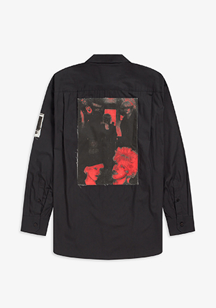 Raf Simons Oversized Printed Patch Shirt