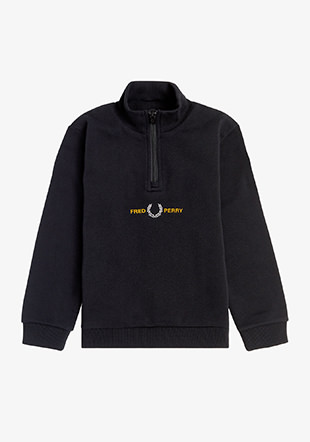 Kids Embroidered Half Zip Sweatshirt