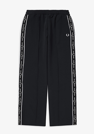 Taped Wide Leg Track Pants